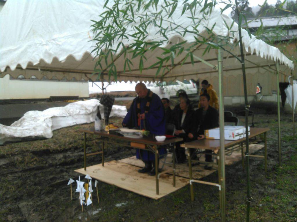 新潟県南魚沼市「エコな家」地鎮祭の様子2