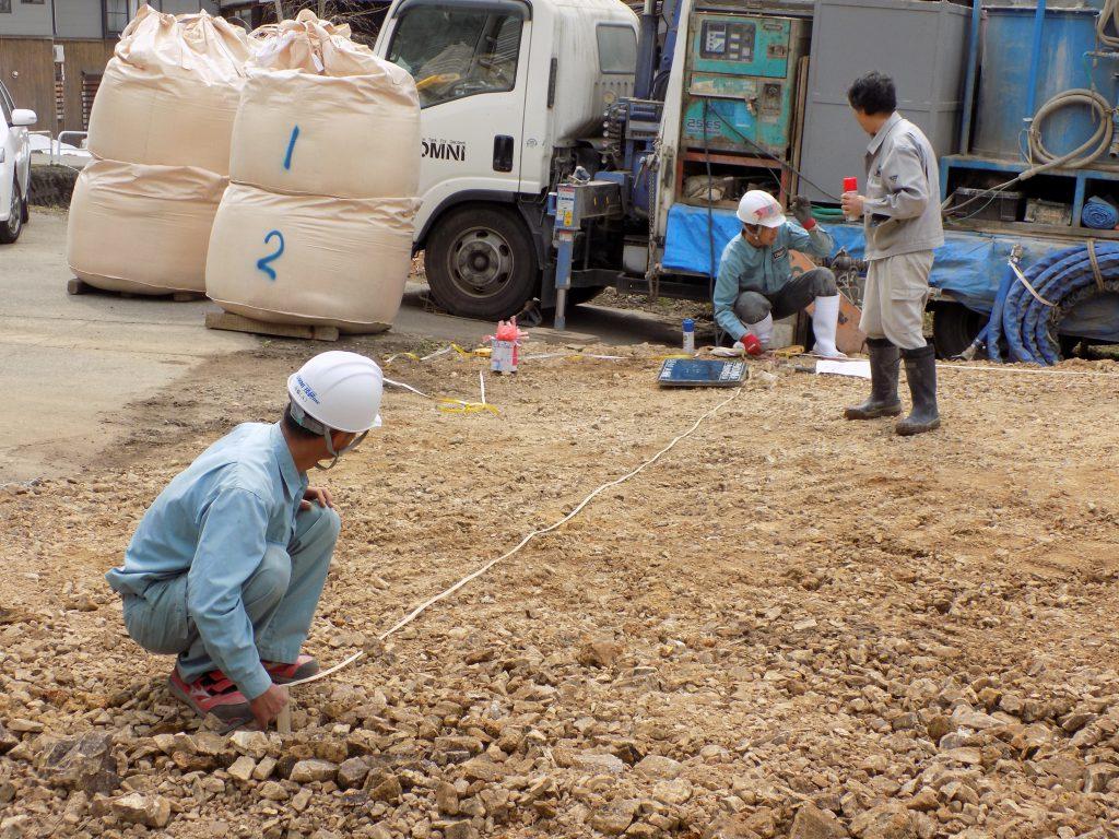 新潟県南魚沼市「エコな家」地盤改良工事3