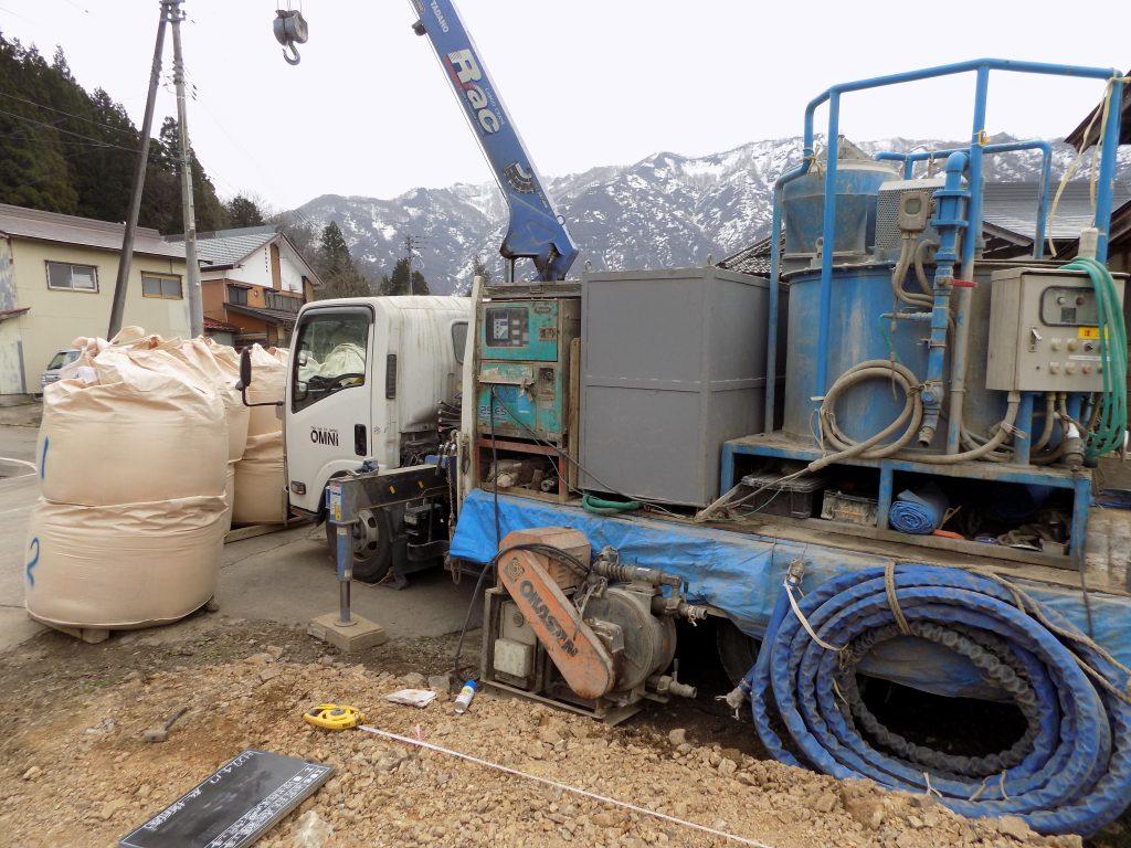新潟県南魚沼市「エコな家」地盤改良工事2
