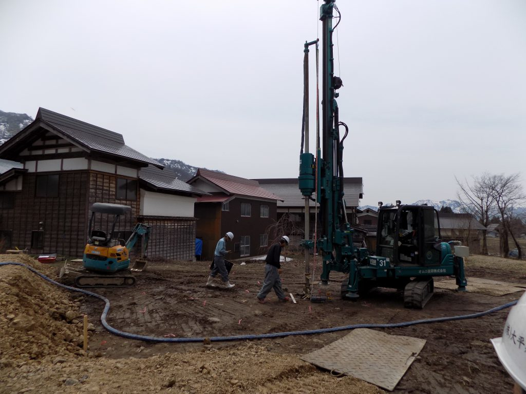 新潟県南魚沼市「エコな家」地盤改良工事5