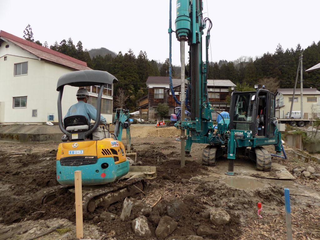 新潟県南魚沼市「エコな家」地盤改良工事6